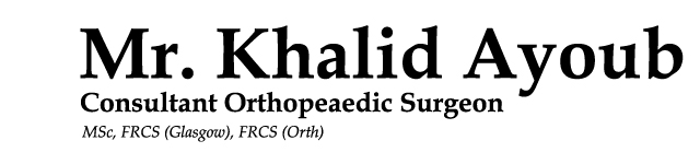 Khalid Ayoub - Consultant Orthopeaedic Surgeon based in Glasgow
